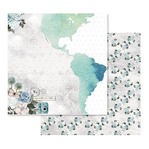 Papel Para Scrap - Apreciar a Jornada - Mapa - Decore Crafts