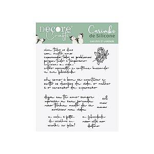Carimbo De Silicone Frases e Rosas - 90 X 110 mm 2102-35