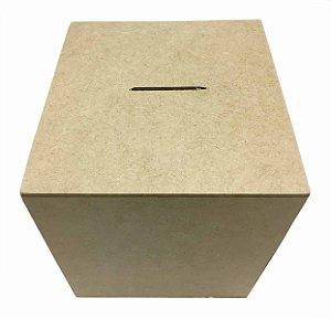 Caixa Cubo Cofre G MDF Liso 10x10x10 cm Exclusivo
