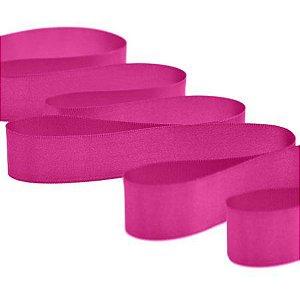 Fita de Cetim Rolo Com 50m x 10mm Cor Pink 303 CF002
