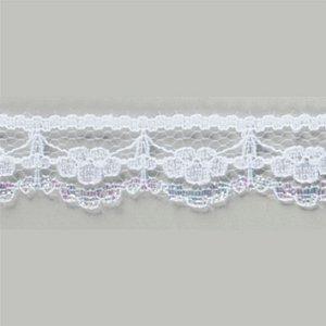 Renda Rígida Poliamida Branco Multicolor 100m x 1,8 cm RR008