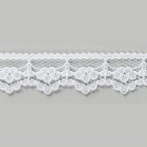 Renda Rígida Poliamida Branco Multicolor 50m x 1,8 cm RR005