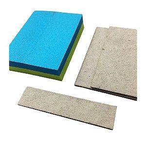Kit Mini Holler + Bloco C/ 100 Post It 5x4 cm Azul/Verde