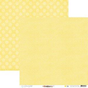 Papel Para Scrap - Happy - Yellow Happy Base 37 - Carina Sartor