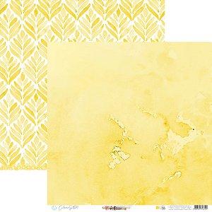 Papel Para Scrap - Happy - Yellow Happy Base 38 - Carina Sartor