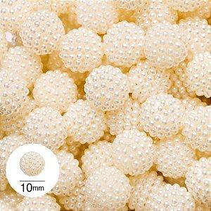 Pérola Craquelada Marfim 10 mm - 500 g - NYBC