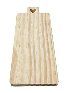 Tábua Pinus 1 Coração Para Mesa Posta 38x12 Decorativa