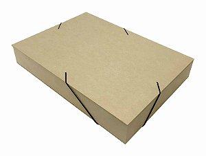 Caixa Pasta Com Elástico M De Mdf Documentos - 26x20x5,5 Cm