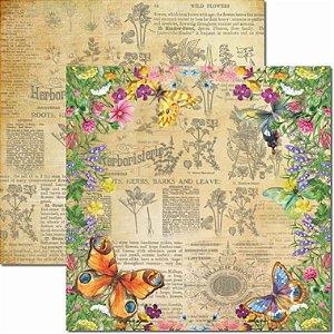 Papel para Scrapbook Arte Fácil Dupla Face - SC-657 - Botânica 3