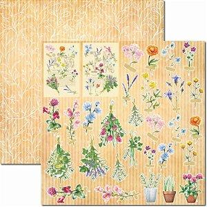 Papel para Scrapbook Arte Fácil Dupla Face - SC-659 - Botânica 5