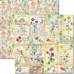 Papel para Scrapbook Arte Fácil Dupla Face - SC-660 - Botânica 6
