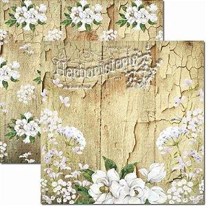 Papel para Scrapbook Arte Fácil Dupla Face - SC-661 - Botânica 7