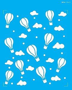 Stencil 20x25 Infantil Estamparia Balões - OPA 2863