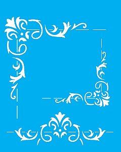 Stencil 20x25 Cantoneira Folha - OPA 2054