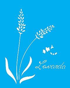 Stencil 20x25 Flor Lavanda - OPA 1780