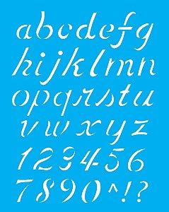 Stencil 20x25 Alfabeto Minúsculo - OPA 1399