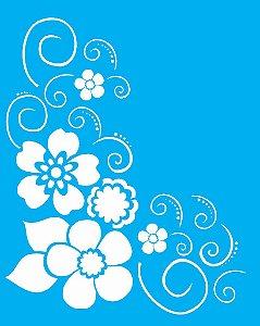 Stencil 20x25 Cantoneira Flor - OPA 1159