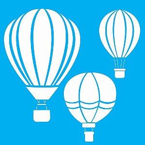 Stencil 30,5X30,5 – Balões - OPA 2087