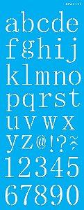 Stencil 17x42 Alfabeto Reto Minúsculo - OPA 2505
