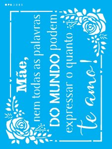 Stencil 15x20 Frase Mãe - OPA 2888