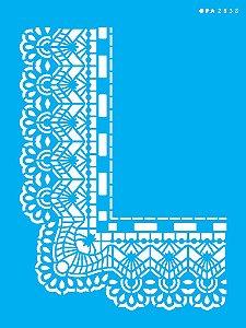 Stencil 15x20 Cantoneira Renda - OPA 2838