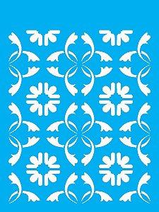 Stencil 15x20 Estamparia Azulejo - OPA 1884