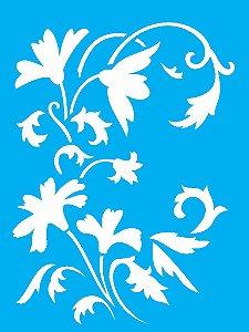 Stencil 15x20 Flor Arabesco - OPA 1880