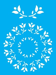 Stencil 15x20 Mandala Flores - OPA 0169