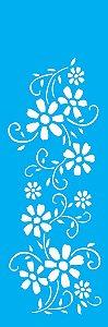 Stencil 10X30 Flores Arabesco 1 - OPA 1082