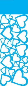 Stencil 10X30 Negativo Corações - OPA 0490
