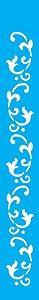 Stencil 4X30 Simples – Arabesco Folhas OPA 1121