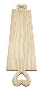 Tábua Pinus Retangular Alça Coração 50x14 cm Nº 50