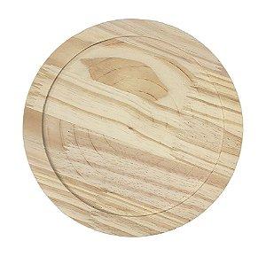 Tábua Pinus Redonda Com Rebaixo 28 cm Nº35