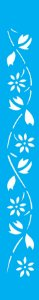 Stencil 4X30 Simples – Flores Margaridas OPA 0194