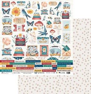 Folha para Scrapbook - My Memories Crafts - Coleção My Memories MMCMM2-01