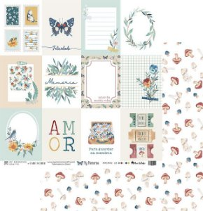 Folha para Scrapbook - My Memories Crafts - Coleção My Memories MMCMM2-03
