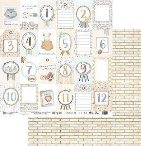 Folha para Scrapbook - My Memories Crafts - Coleção My Wall - MMCMW2-05