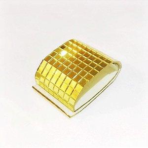 Fita Espelhada Gold Decoração e Mosaico 0,4 x 0,4 cm 1 Metro