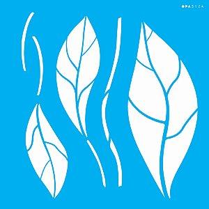 Stencil 30,5X30,5 – Orgânico Folhas - OPA 3124