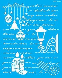 Stencil 20x25 Carta Natalina 2 - OPA 3153