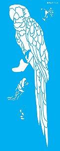 Stencil 17x42 Animais Arara - OPA 3144