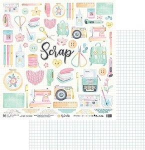 Folha para Scrapbook - My Memories Crafts - Coleção My Crafts MMCMC2-01