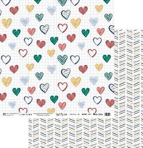Folha para Scrapbook - My Memories Crafts - Coleção My Love MMCMLV-06