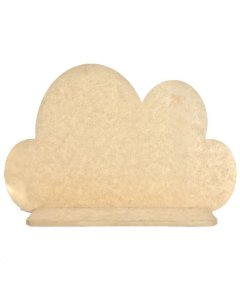 Prateleira Nuvem Lisa G 53x30 cm Decoração Nicho Em MDF