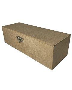 Caixa Porta Garrafa De Vinho Lisa Articulada Em MDF