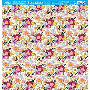 Papel Para Scrapbook 30,5 Cm X 30,5 Cm - Coleção Dias Melhores SD-1203