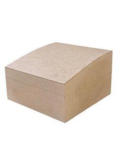Caixa Porta Treco Inclinada MDF Com Dobradiça 25x25x15