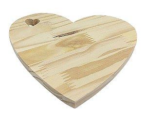 Tábua Pinus Aperitivo Coração Vazado P 12x10 cm
