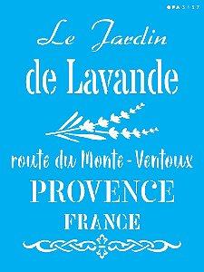 Stencil 15x20 Frase Le Jardin De Lavande - OPA 3157