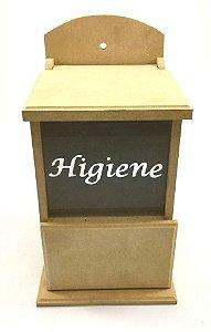 Porta Higiene Com Vidro Jateado Em Mdf